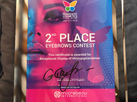 2nd Place Win at the Miami Eyebrow Contest...YAY!!!