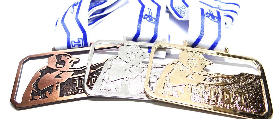 Medalhas em metal padrão oficial TDT kit 3 medalhas