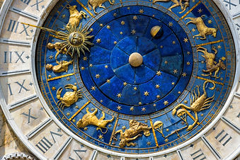 Ancient clock Torre dell'Orologio in St