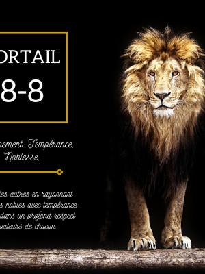 PORTAIL 8-8- EN LION