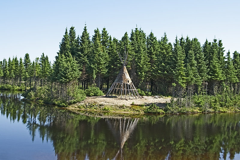 Native American Tipi On A Lakeshore_edit