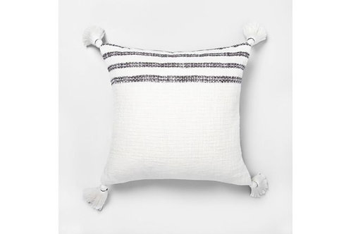 Railroad Striped Pillow