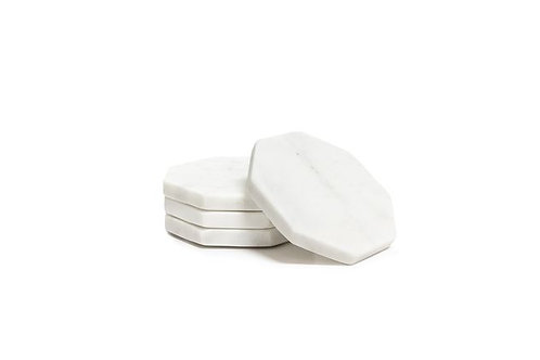 Marble Hexagonal Coasters - Set of 4
