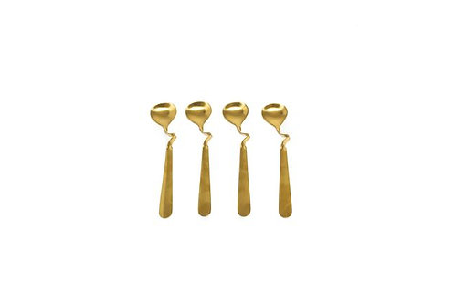 Modern Gold Teaspoons - Set of 4