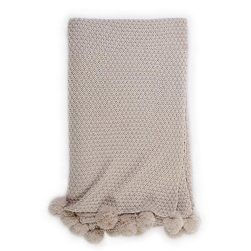 Riley Oversized Throw - Taupe