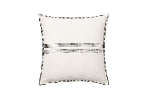 Oversized Cream & Black Woven Pillow