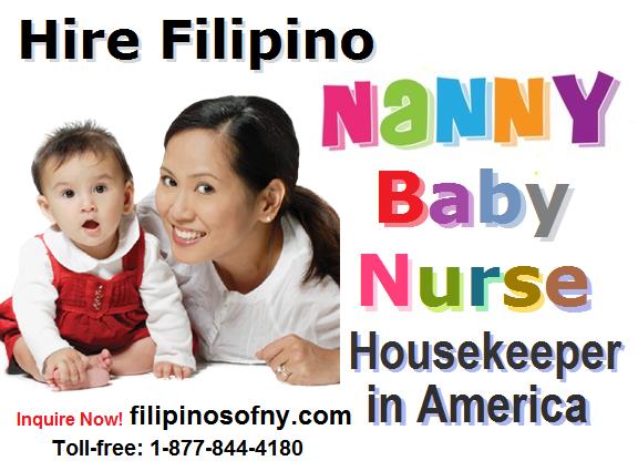 Nanny Baby Nurse Housekeeper United States Filipinos