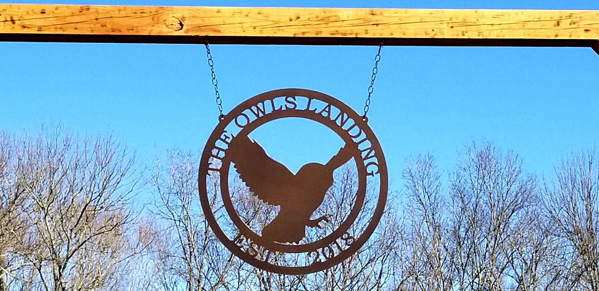 The Owls' Landing Entrance