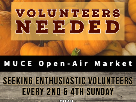 Community markets thrive because of volunteers like you!