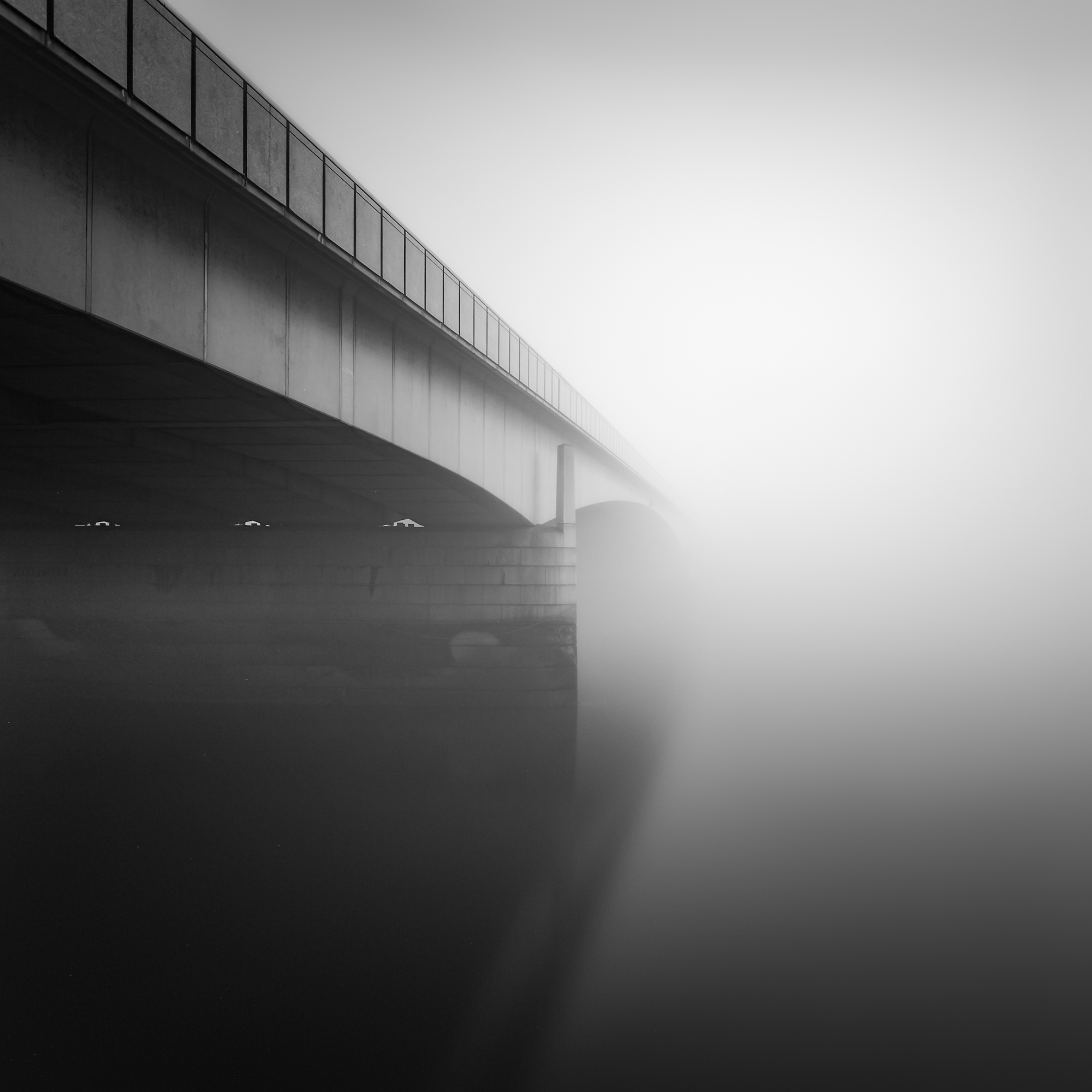London bridge in the fog