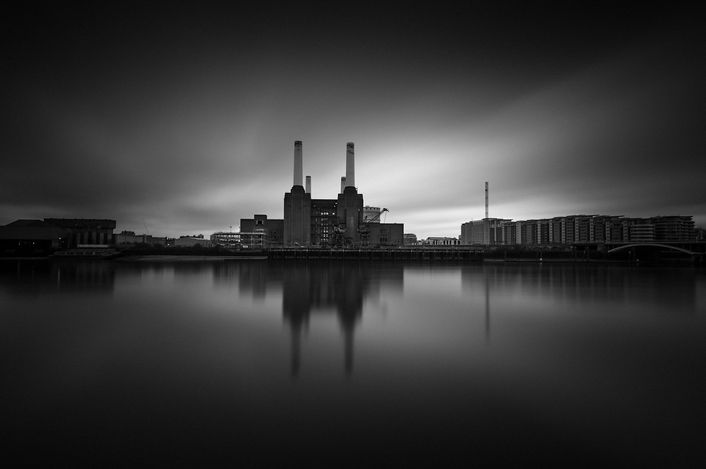 battersea power station, long exposure photography