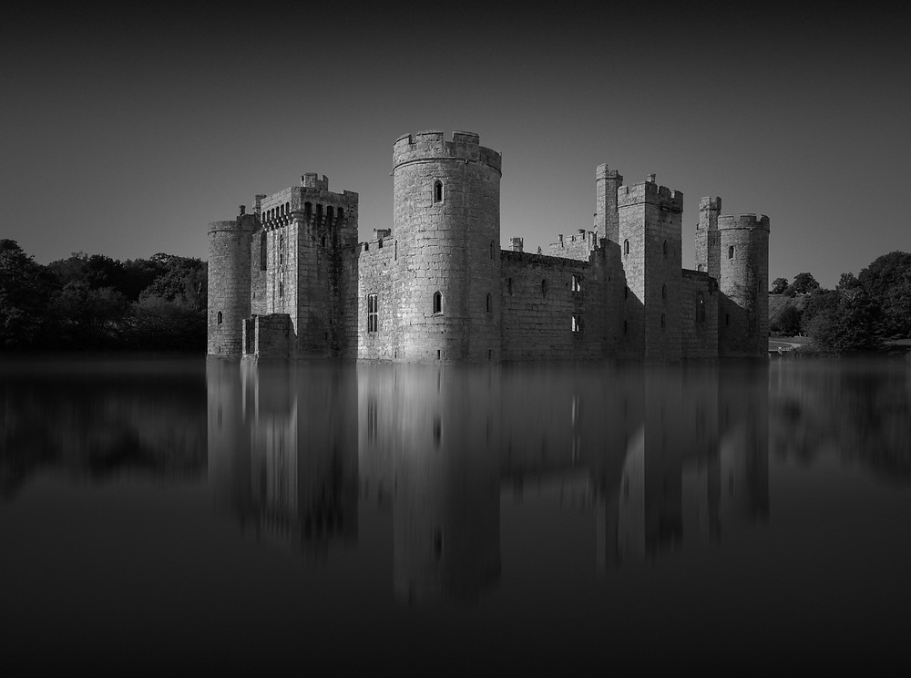 Bodiam Castle, long exposure