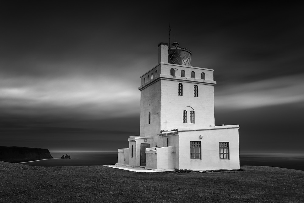 black and white long exposure photography
