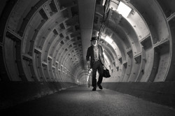 traveler, greenwich foot tunnel