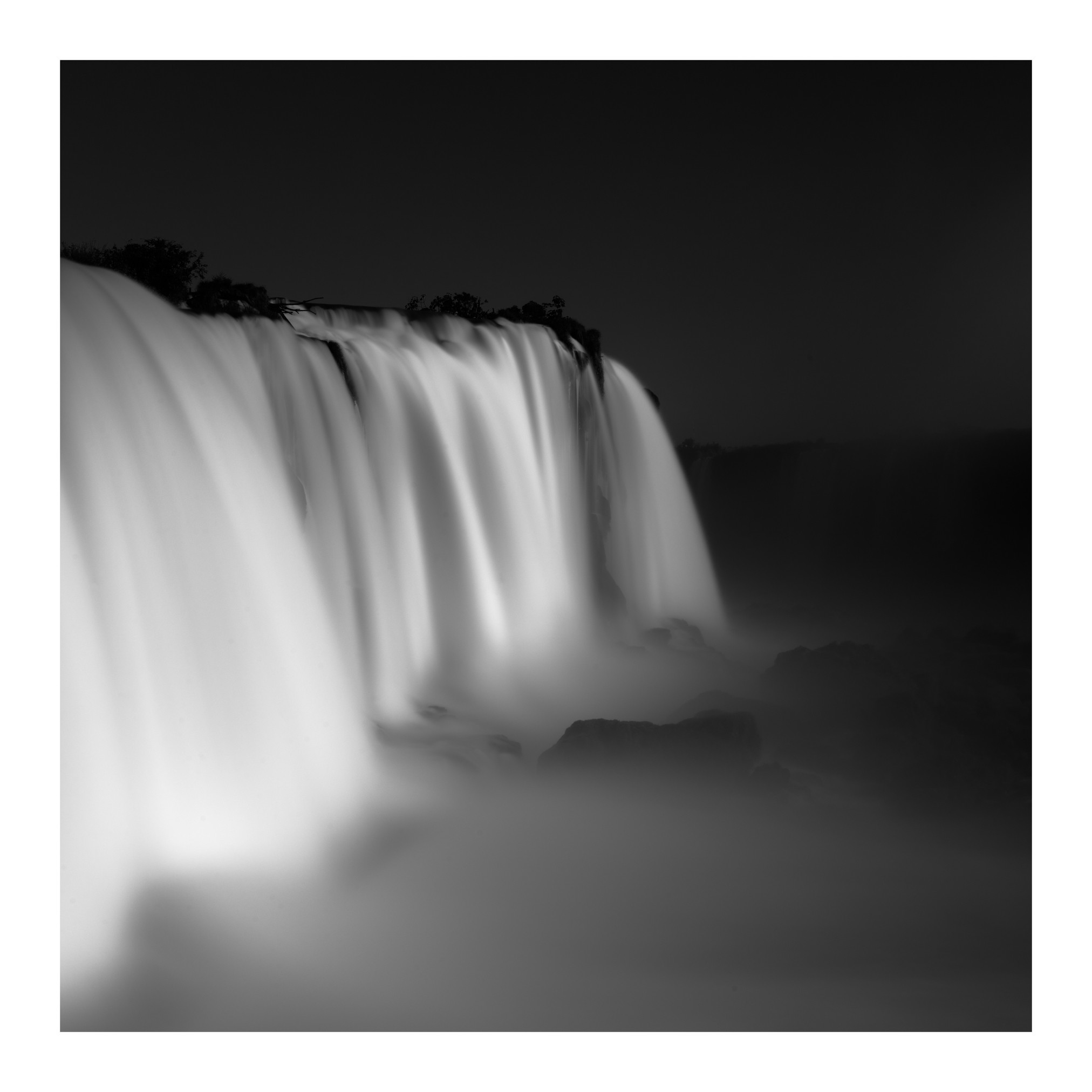 Iguazu falls argentina and brazil april 2018 long exposure black and white photography nikon d810 zeiss 18mm