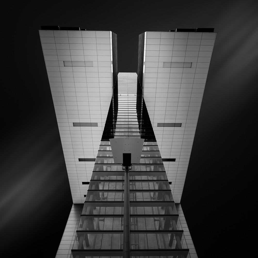 Kranhaus Cologne Germany, long exposure photography