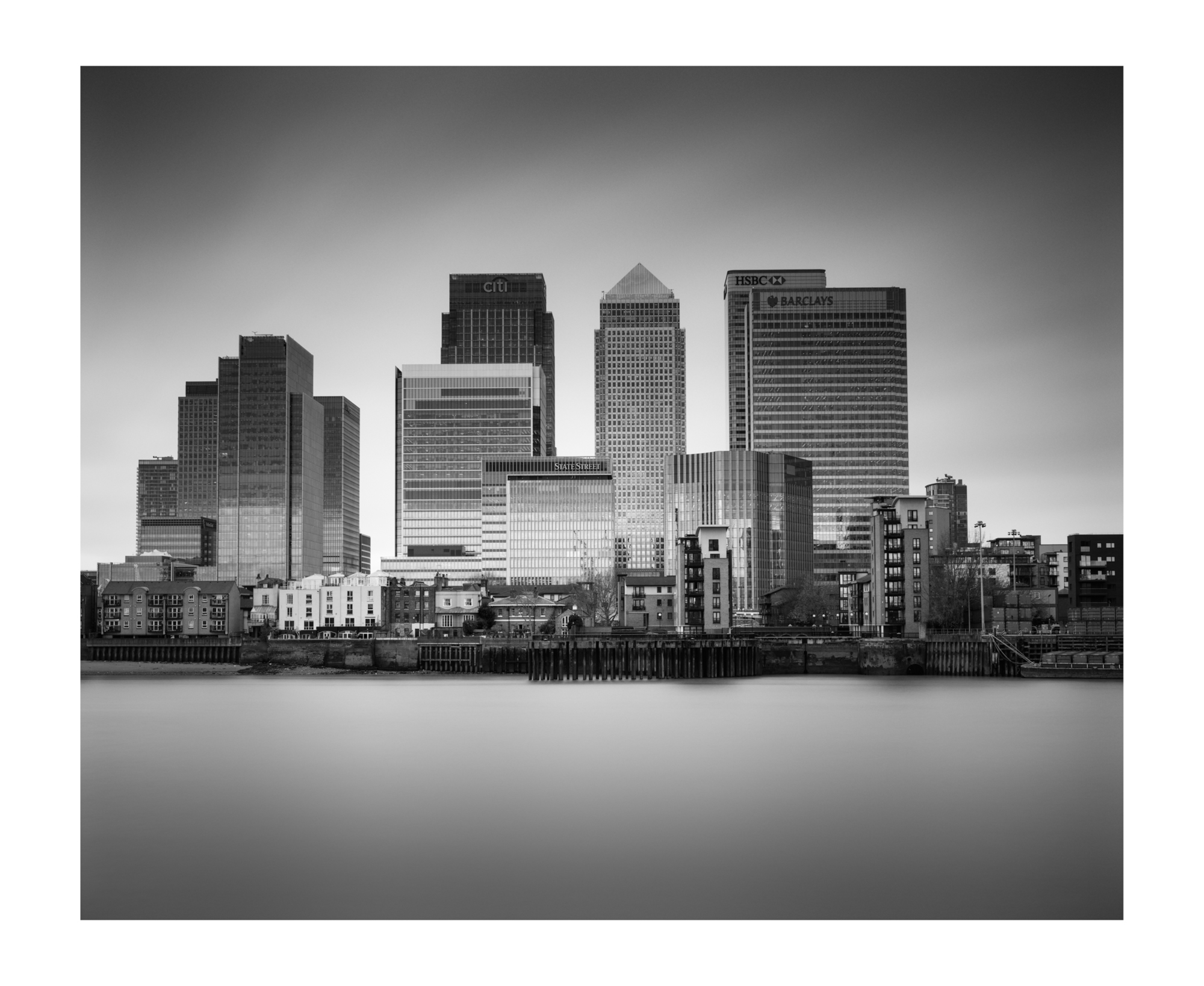 Canary Wharf Skyline London
