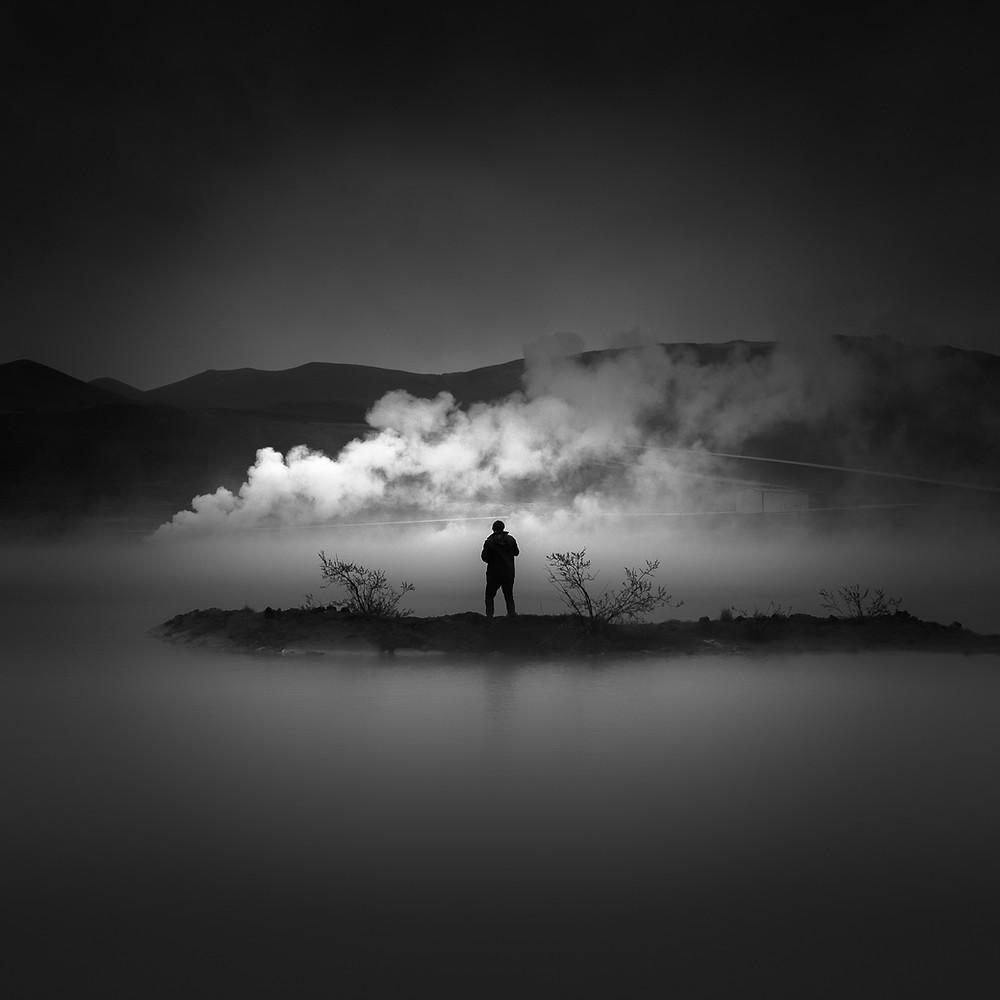 black and white fine art, Iceland