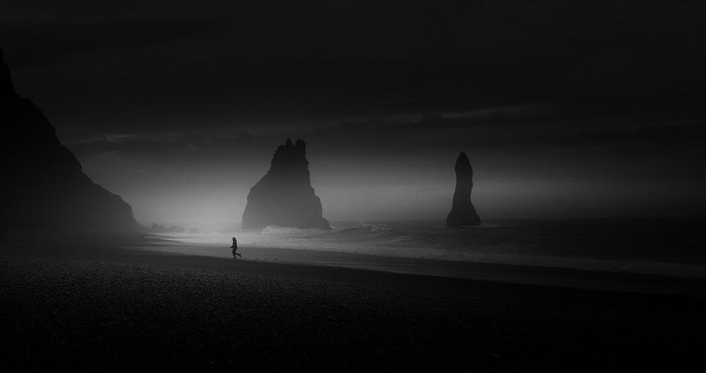 low light seascape, Vik Iceland