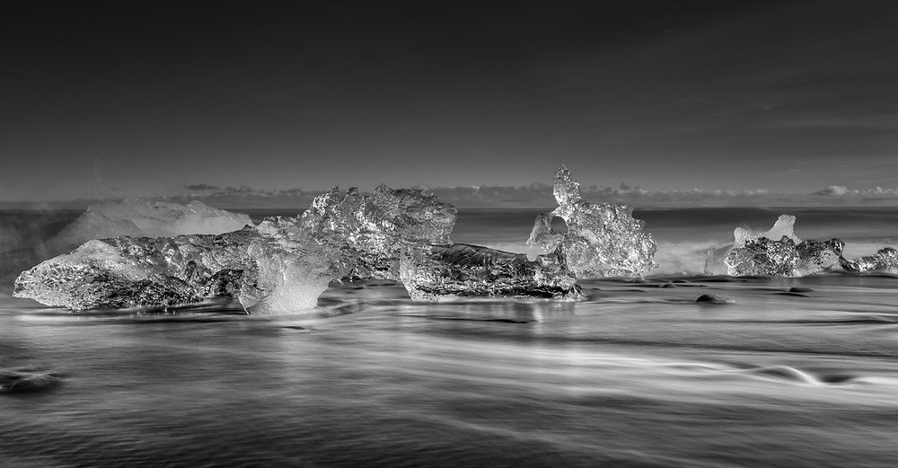 jokulsarlon iceland, long exposure