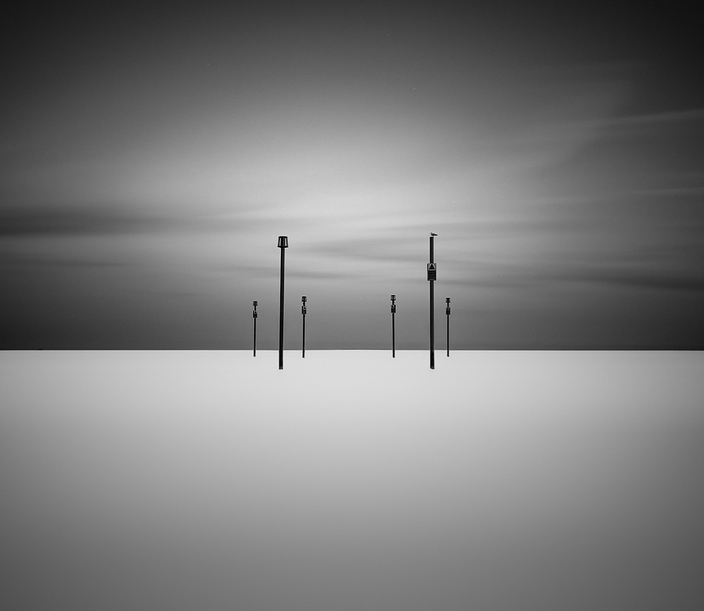 long exposure minimal seascape