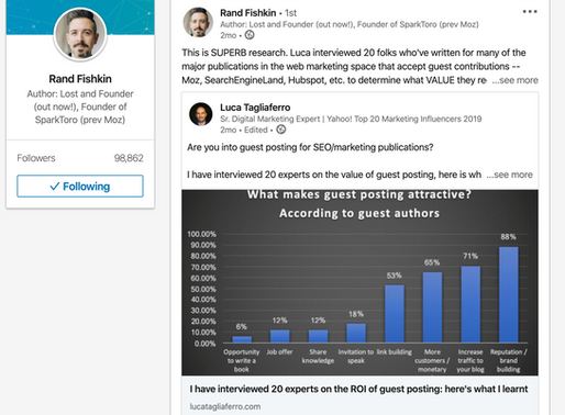 Influencers outreach: lessons learned from three emails with Rand Fishkin