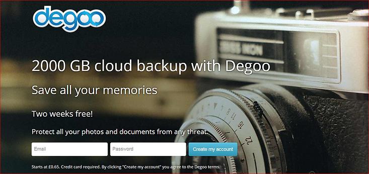 Degoo Cloud Storae
