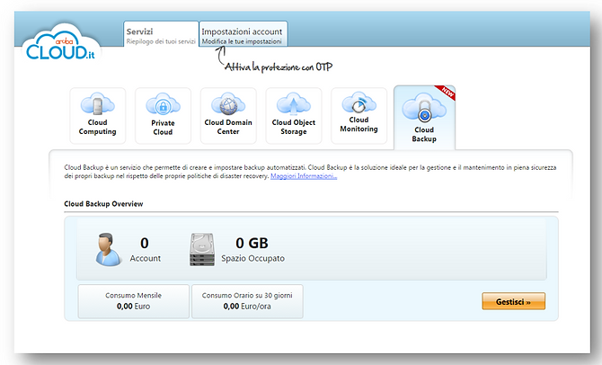 Aruba Cloud Account