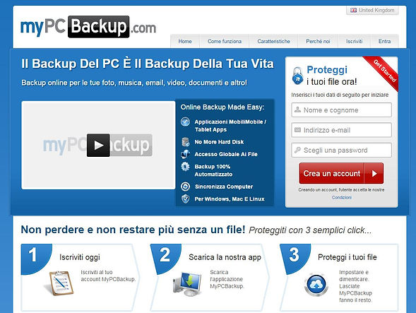 Home page mypcbackup