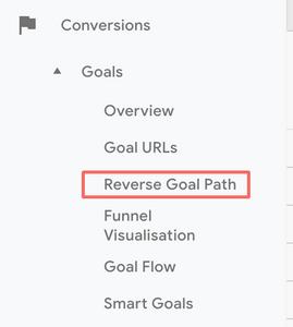 GA reverse goal path