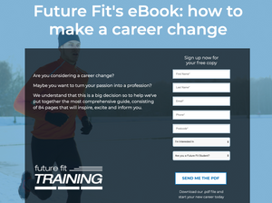 example of landing page ebook