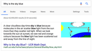 example of featured snippet