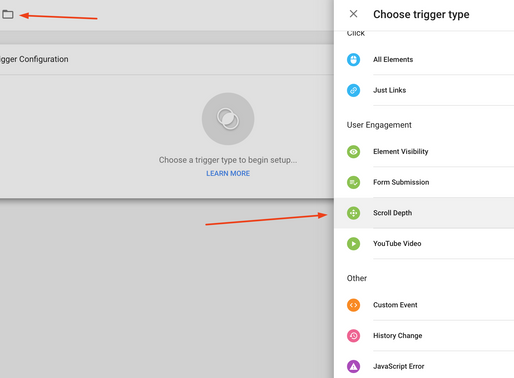 Track page scroll with Google Tag Manager