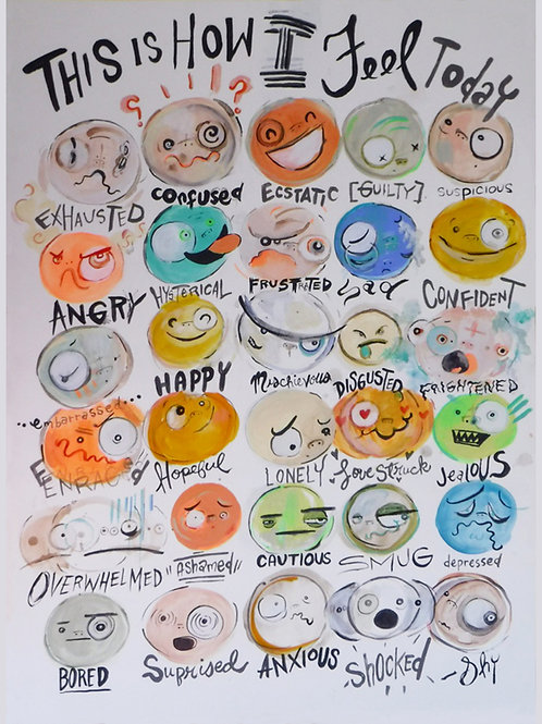 How do you feel today? Poster Print