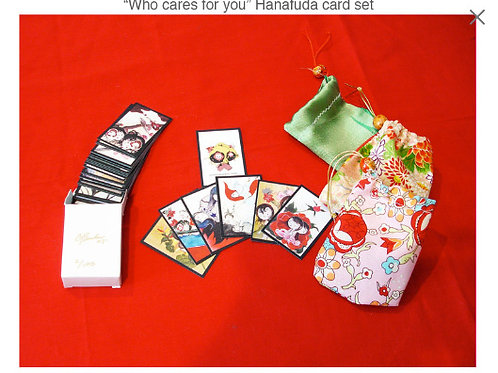 Who cares for you Hanafuda card set