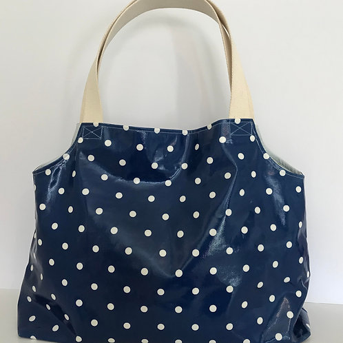 Maxi Mum Bag (Navy & White Polka)