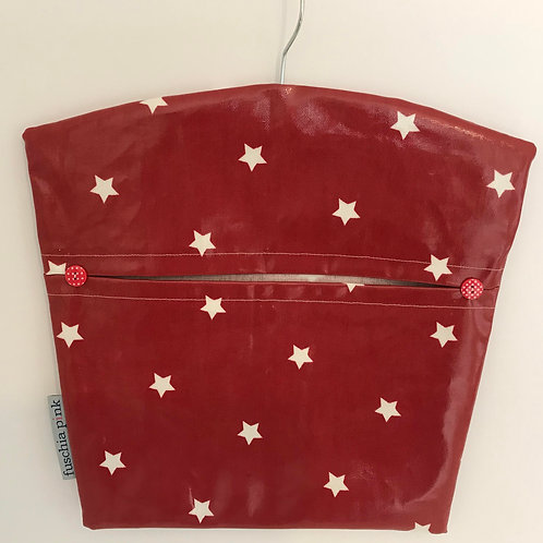 Peg Bag (Red & White Polka)