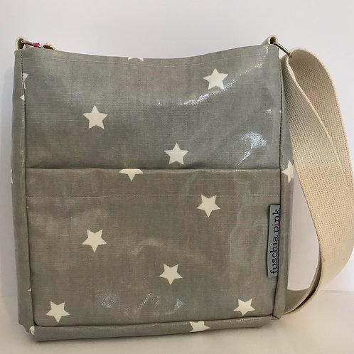 Messenger Bag (Grey with White Stars)