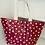 Thumbnail: Red star tote bag
