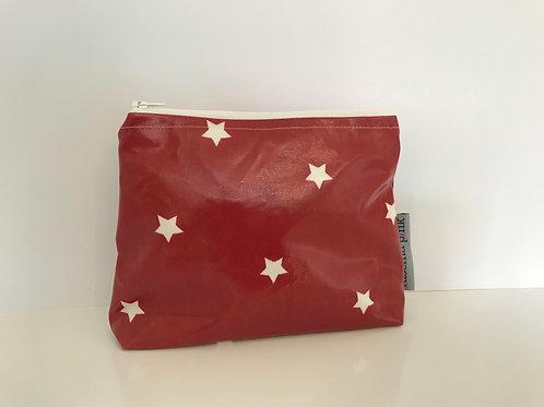 Makeup Bag (Red & White Stars)