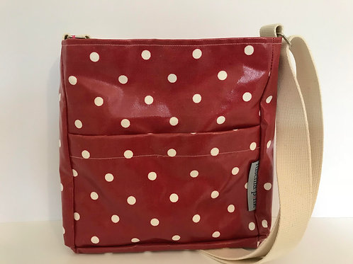 Messenger Bags (Red with White Polka)