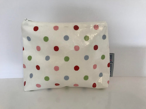 Makeup Bag (Multi Polka)