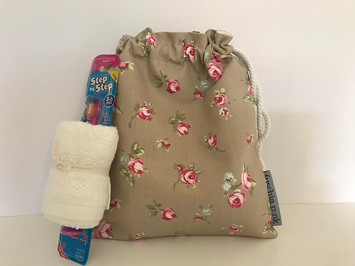 Sleep Over Bag (Pink Flowers)