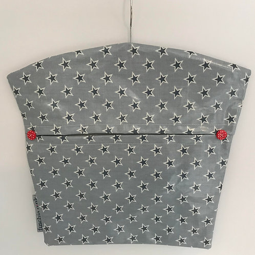 Peg Bag (Grey Stars)