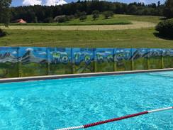 Wand gestaltet von der 7. Klasse Melchnau