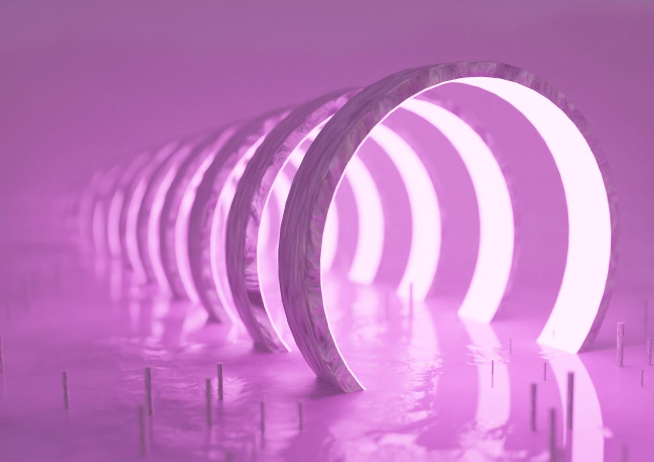 Pink Emission Rings