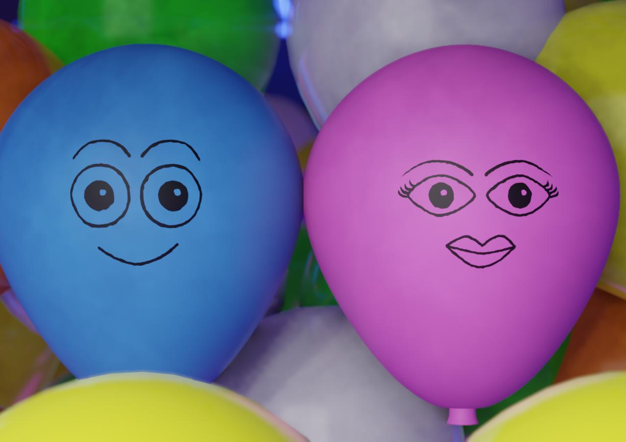 Balloon Drop Animation