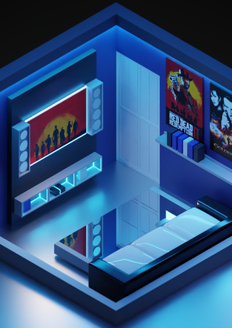 Game Room Low Poly