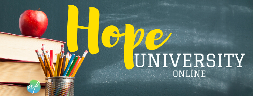 Hope University Online course header (1)