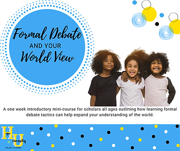 Formal Debate & World View Mini course.p